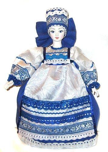 Мила-гжель кукла грелка на чайник