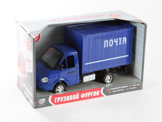 Машина 1:27 Газель 9077-Д Грузовой фургон Почта