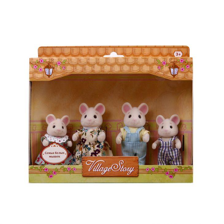 Семья белых мышек (4 шт) Village Story