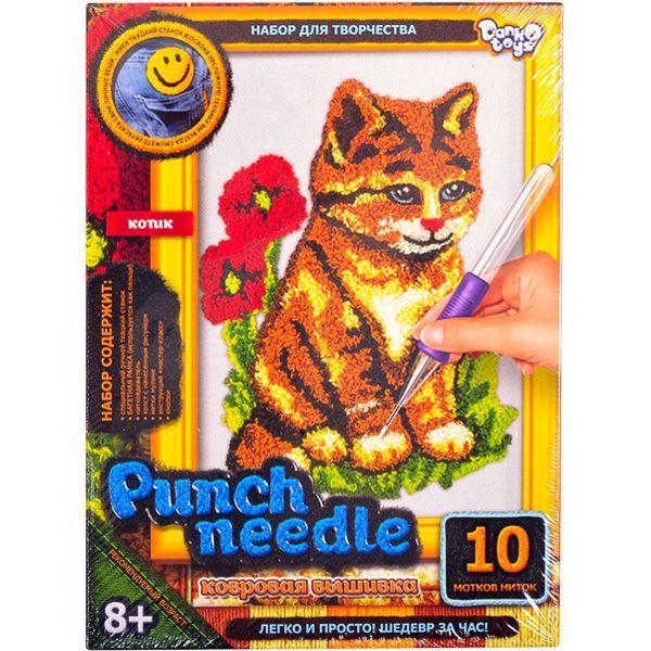 Ковровая вышивка Punch Needle. Котик