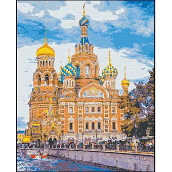 Роспись по холсту Санкт-Петербург. Храм Спас на крови 40х50см